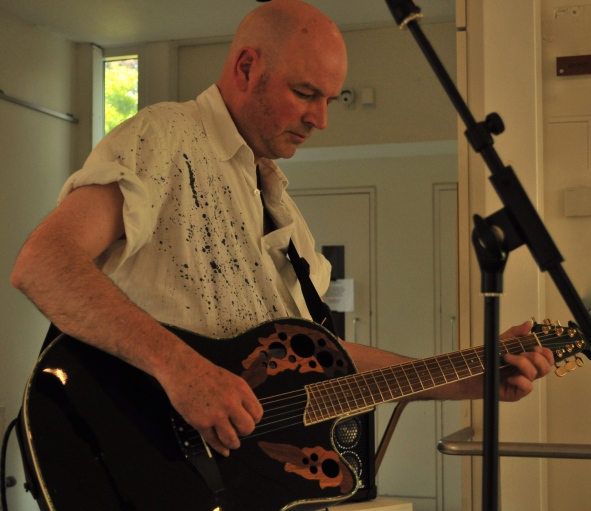 performing at a gallery opening