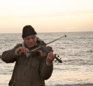 violin by the sea